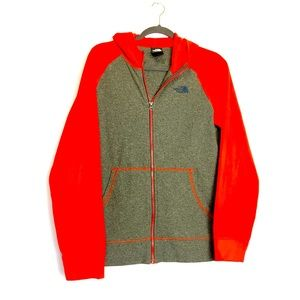 The North Face Forest Hooded Fleece Red Jacket. S